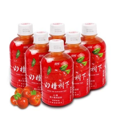 冠芳山楂樹下350ml*6罐裝果汁果肉飲料山楂汁飲料整箱夏季飲品