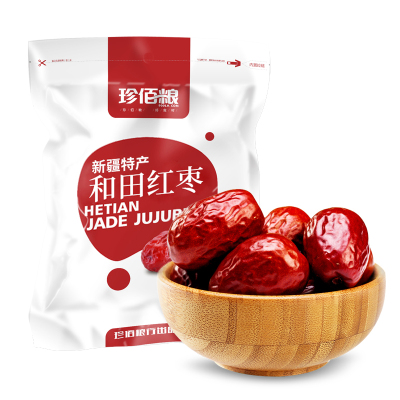 珍佰糧 新疆大棗 和田紅棗 棗 500g/ 袋 1斤裝紅棗
