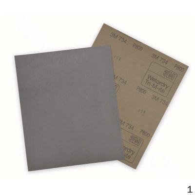 3M 734P800 734水砂紙 #800干濕兩用紙基 50張/包 50張