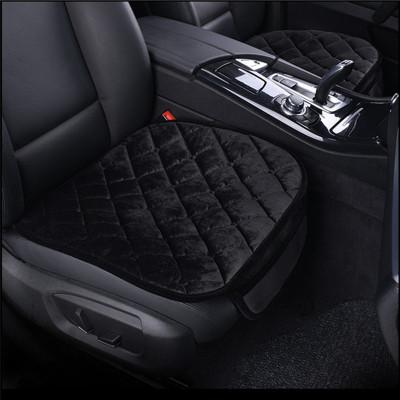 華飾汽車坐墊通用冬季毛絨座墊車載無靠背冬季座墊套 汽車用品 三件套