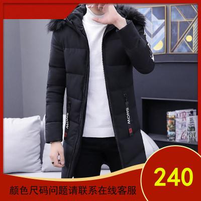 棉衣男中长款冬季加厚外套羽绒棉服男士修身冬天青年棉袄潮流