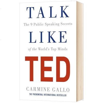 Talk Like TED 英文原版 TED 演讲的力量 成就演讲的9个秘诀 像TED一样演讲 成功励志书籍 进口原