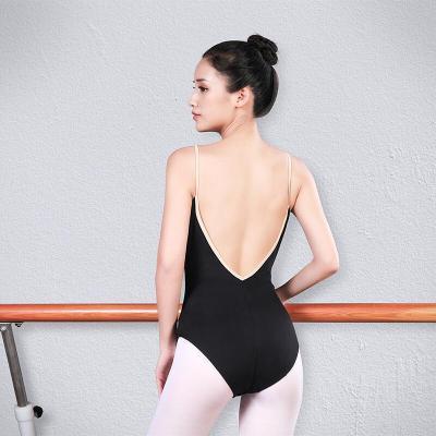 好貨芭蕾舞練功服女舞蹈空中瑜伽連體服 吊帶基訓舞蹈體服形體服