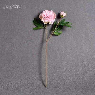 現代時尚假花牡丹花婚慶仿真花 歐式客廳餐桌樣板間裝飾擺設假花