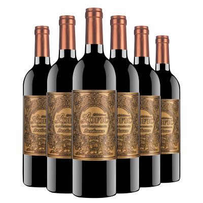法國原瓶進口 波爾多產區 洛菲克.波爾多干紅葡萄酒 13度750ml*6瓶 整箱裝