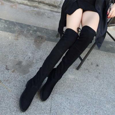 诺妮梦 2019秋冬新款过膝长靴女 显瘦高筒靴 长筒靴 平底靴子