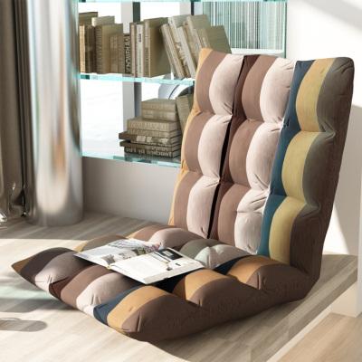 京好 懶人沙發布藝日式單人榻榻米 現代簡約環保單人折疊床上靠背椅飄窗椅懶人電腦椅B53