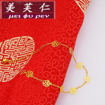 【精品】脚链女性感铃铛挂件 镀金脚链珠饰品久