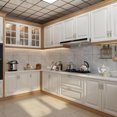 整體廚房櫥柜定制石英石臺面歐式定制全屋拉籃組裝定做實木櫥柜閃電客櫥柜 預付定金 1米