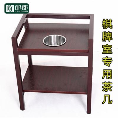 郎郡麻將機小茶幾茶水架棋牌室茶樓麻將桌專用茶水臺角幾邊幾置物茶桌
