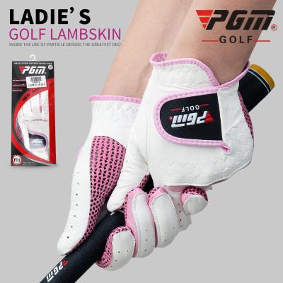 高爾夫手套 女士羊皮手套 雙手防滑型手套