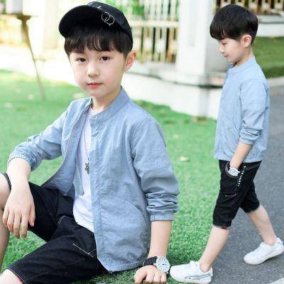 童裝男童薄外套2020新款夏季棒球服中大小童夾克開衫兒童防曬衣潮威珺