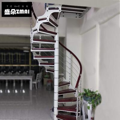旋轉樓梯整體樓梯鋼木樓梯閣樓樓梯復式樓梯定制室內樓梯-j15 雙梁旋轉樓梯一步價格