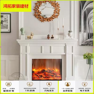 蘇寧放心購歐式壁爐裝飾柜 美式簡約實木輕奢家用取暖器壁爐架1.2米1.5米新款簡約