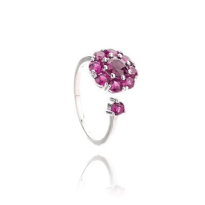 蒂美拉 R166天然巴西紫牙乌石榴石宝石转动时尚女戒指