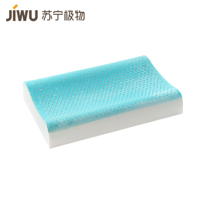 蘇寧極物 天然乳膠凝膠枕護頸椎助睡眠清涼無壓乳膠枕
