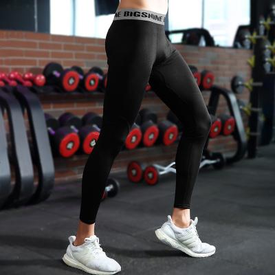 迷彩健身运动紧身裤男高弹力篮球打底裤田径速干跑步训练压缩长裤