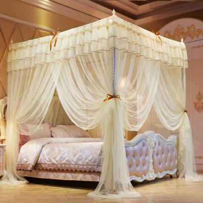 Bigan宮廷蚊帳三開門加高不銹鋼支架落地式1.5米紋帳1.5m1.2米床雙人蚊帳1.8米