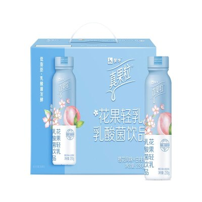 真果粒花果轻乳乳酸菌饮品(樱花白桃味)230g*10瓶