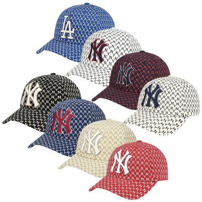 MLB棒球帽子2020新款NY男女復古印花彎檐情侶款休閑運動遮陽帽