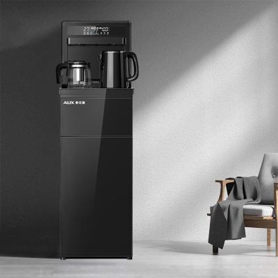 奧克斯/AUX 自營茶吧機 家用遙控自動上水 下置式冷熱即飲水機 黑色養生茶飲機 安全童鎖桶裝水凈水YCB-0.75F