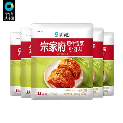 清凈園宗家府韓國切件泡菜40g*5 韓式小菜袋裝咸菜下飯菜配飯菜小菜