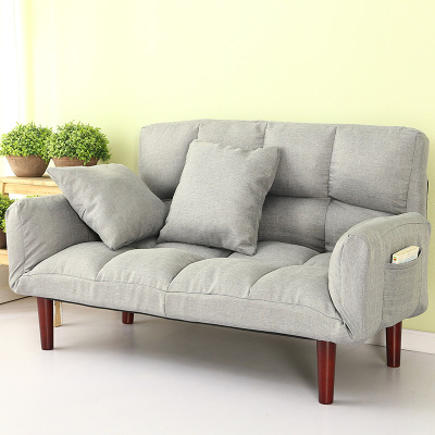 歐寶美懶人沙發床雙人榻榻米 可折疊客廳布藝休閑小沙發