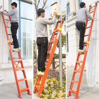 DOXA升降抽拉鋁合金梯子伸縮加厚疊直單面工程裝修戶外樓梯特厚