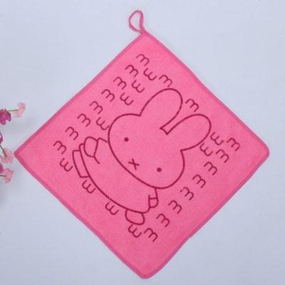 兒園卡通小方巾非竹纖維成人兒洗臉擦汗吸水面巾毛巾批發 定制