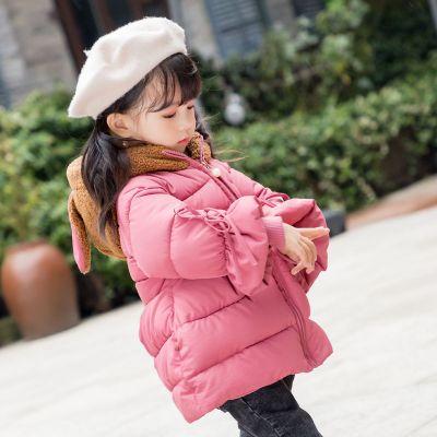 童装女童棉衣冬装新款宝宝羽绒棉服中小童儿童保暖棉袄外套