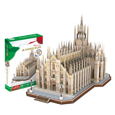 DIE-CAST樂立方(CubicFun)3D立體拼圖創意玩具 大型仿真教堂城堡建筑拼插拼裝手工模 【意大利】米蘭大教堂