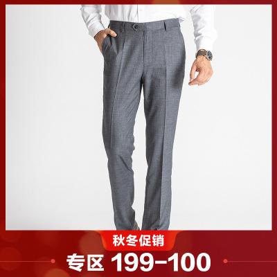 相思鳥相思鳥(xiangsiniao)男士西褲亞麻灰薄款經典百搭西褲男爸爸裝成熟男士西褲FK415B國民男裝相思鳥