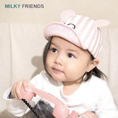milky friends閃光條紋鴨舌帽AMJ20A002兒童帽子