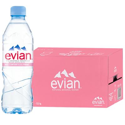 【可DIY保濕噴霧】依云(evian)礦泉水 500ml*24瓶/箱 進口飲用水 礦物質水 法國進口