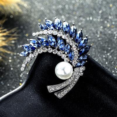 一粒珍珠 圆润透亮镶人造水晶饰品胸针 时尚潮流新品