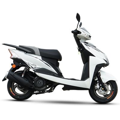 风感觉新款摩托车迅鹰尚领电喷125cc踏板车燃油助力车鬼火街跑可上牌