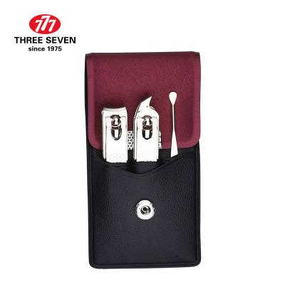 韓國進口777指甲刀套裝平口指甲剪套裝斜口指甲鉗耳挖勺修美甲美妝工具3件套TS-78