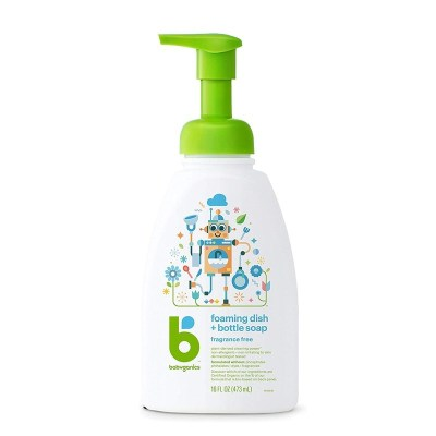 美國甘尼克寶貝 babyganics 泡沫型奶瓶清潔劑餐具清潔劑 無香安全溫和無殘留 473ml