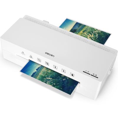 得力(deli) 2897 A6塑封機 照片塑封辦公家用小型過塑機熱塑冷裱壓膜機 白色