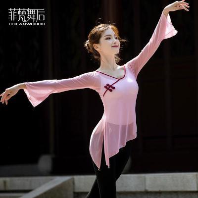 菲梵舞后中國民族古典舞蹈練功服女成人身韻紗衣網紗飄逸跳舞上衣