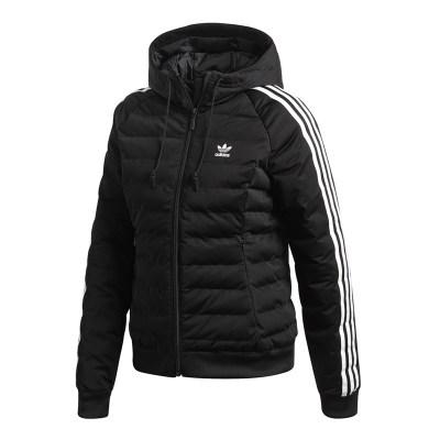 阿迪达斯(adidas)三叶草棉衣女装2018冬季新款运动保暖棉服连帽外套DH4587