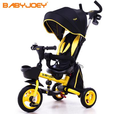兒童三輪車 英國Babyjoey兒童三輪腳踏車寶寶1-3-5歲手推車自行童車坐躺折疊 百變騎士