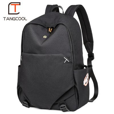 唐酷TANGCOOL電腦包雙肩包男休閑背包簡約旅行包輕便高中學生書包行李包男時尚潮流逛街包