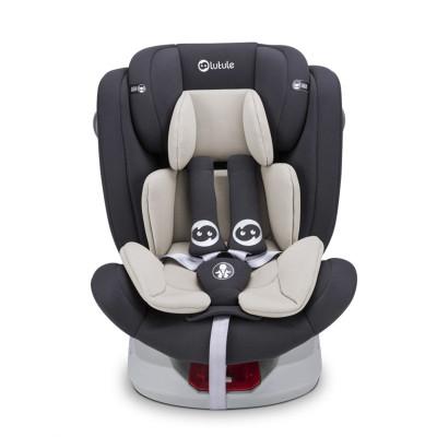 路途樂汽車兒童安全座椅isofix硬接口 360°旋轉 坐躺可調0-12歲寶寶座椅 Air S+ 盧克灰