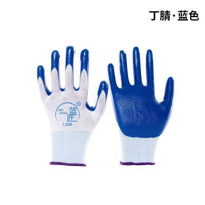 【2-12雙】帶膠橡膠工地膠手套加厚膠皮工作勞保手套批發耐磨威珺