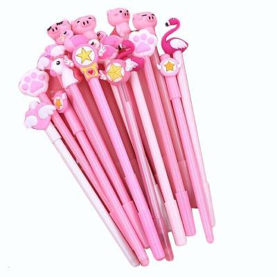 中性笔可爱 少女心笔粉色系粉红色可爱粉文具学生用小仙女笔 BX