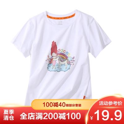 【季末清倉】叮當貓童裝女童夏裝新款圓領針織衫中大童韓版T恤女孩印花洋氣套頭衫