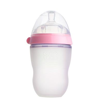 韩国原装进口 comotomo可么多么母婴幼儿童硅胶奶瓶瓶身全硅胶 250ml 粉色