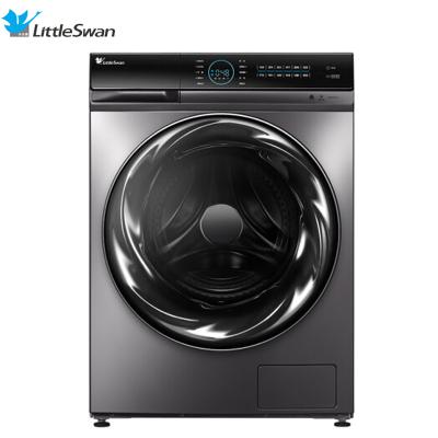 【99新】LittleSwan/小天鵝 美的出品TD100FTEC 水魔方超微凈泡洗洗烘一體滾筒洗衣機節能靜音 智能控制