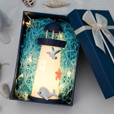 瑞仕茲 創意燈塔小夜燈氛圍燈18歲生日送給女生閨蜜同學老師男友少女心成年有意義抖音網紅ins特別實用情人節圣誕節禮物
